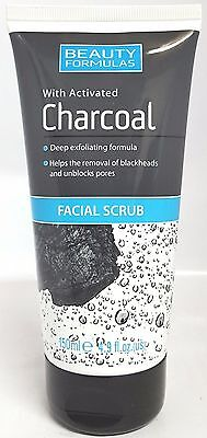 Beauty Formulas With Activated Charcoal Facial Scrub 150ml/4.9oz