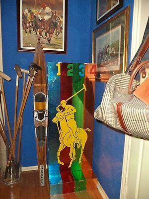 Ralph Lauren Display Shelf Furniture Polo Store Sign Big Pony Cologne Wood