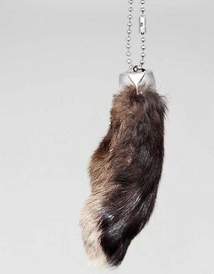 Real Rabbit Foot Lucky Keychain~NATURAL BLACK~Vraie Patte de Lapin Chanceuse