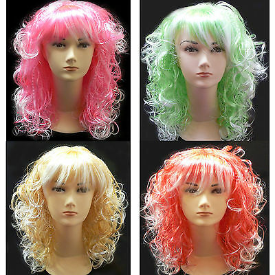Fashion Chic Long Wavy Cosplay Party Curly Wig Custome Halloween Wigs Women's
