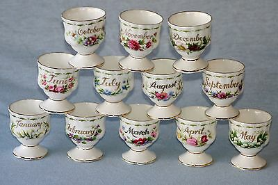 Royal Albert ' Flower Of The Month Series ' Egg Cups - English Bone China
