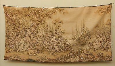 Large Antique French Romantic Scene tapestry Wall Hanging 239x122cm (A578)