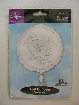 Palloncino Best Wishes Bianco