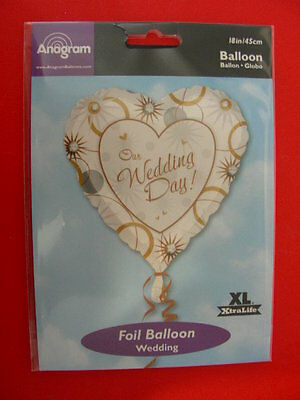 Palloncino Wedding Day Cuore