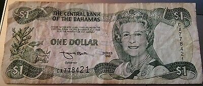 Bahamas, $ 1 Currency Note 1996