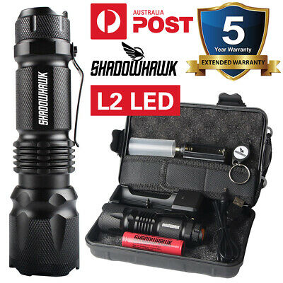 Super Bright 20000LM L2 LED USB Rechargeable Charger Tactical Flashlight Torch