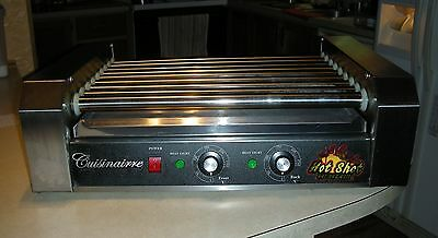 Cuisinairre HOT SHOT 9 Roller Commercial / Home HOT DOG ROLLER GRILL 24 Dogs