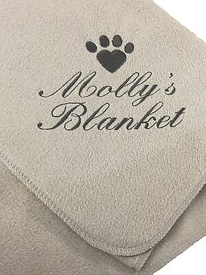 Personalised Dog Blanket, Choice of colours.
