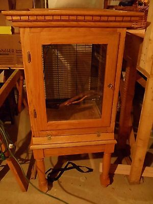 Oak Parrot Cage lined with metal