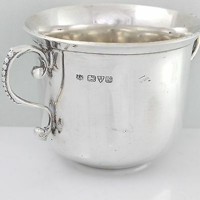 Antique Solid Silver Bowl Porringer Two Handle Cup Chester 1913 Alfred Marston