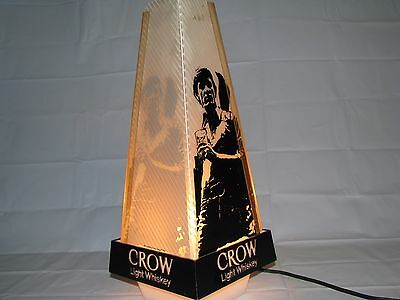 Vintage Old Crow Light Whiskey Working Bar Back Counter Advertising Display