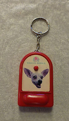 Vintage Red Plastic Yo Quiero Taco Bell  Chihuahua Talking Dog Key Chain