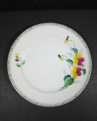 Merit China White with Handpainted Pansy Plate, Made in Occupied Japan