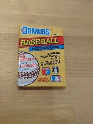 DONRUSS 1991 Series 1 Baseball Cards W/ Puzzle Pieces Unopened Packs