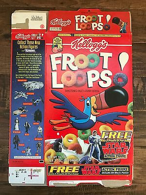 "1996 Vintage (Kellogg's) ""FROOT LOOPS"" Cereal Box, (Star Wars Figure), RARE!"