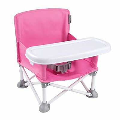 Summer Infant Pop N' Sit Portable Booster Pink Chairs Feeding Baby