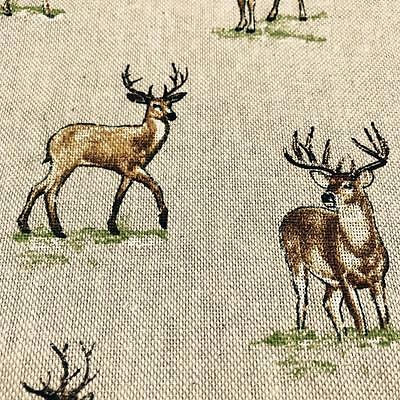 Stags Fabric Material 140cm Cotton Poly Mix Cushions, Curtains, Upholstery