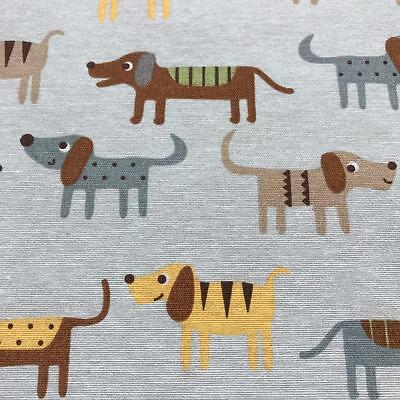 Sausage Dogs Fabric Material 140cm Cotton Poly Mix Cushions, Curtains Upholstery