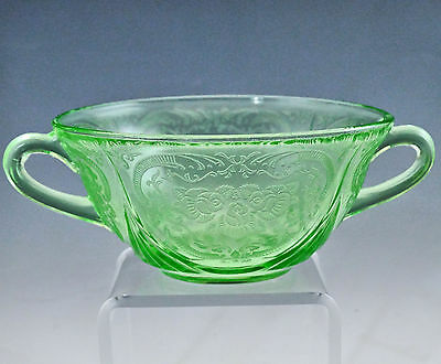 Hazel Atlas Green Royal Lace Cream Soup Bowl