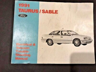 Oem 1991 Ford Taurus Sable Sho Electrical & Vacuum Trouble Shooting  Manual