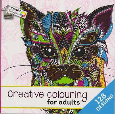 ADULT COLOURING CREATIVE COLOURING BOOK 3 with 128 DESIGNS NEW
