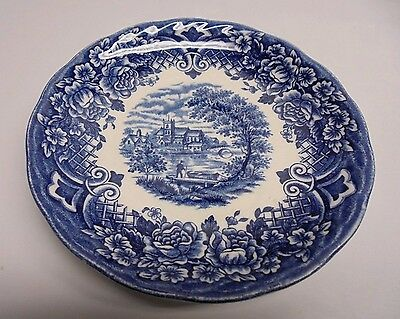 Homeland W.H Grindley Staffordshire England Blue Scenery/Intricate Display Plate