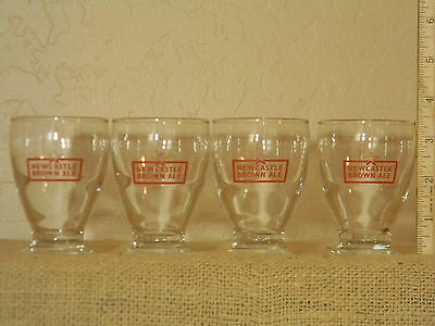 New Castle Brown Ale Tasting Glass set of 4, 4 oz