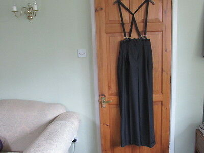 New northern soul / 50s high waisted braced trousers size 12 ( M )