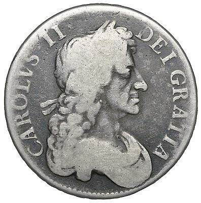 1680 Crown - Charles Ii British Silver Coin