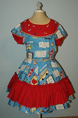 Square Dance outfit - Dress with Man's Tie