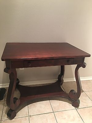 Antique mahogany empire console table