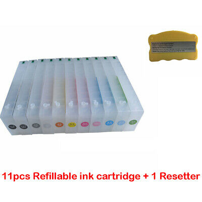 Empty Epson Stylus Pro 7910/7900/9900/9910 Refillable Ink Cartridge +resetter