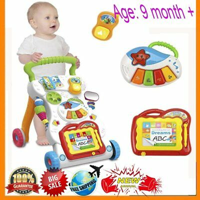 Baby Walker Infant Baby Activity Centre Walker Learning Musical 6-36months BS