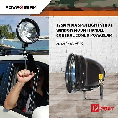 "Powa Beam 7"" Spotlight Strut Window Mount Handle Control Powabeam Combo Pack"