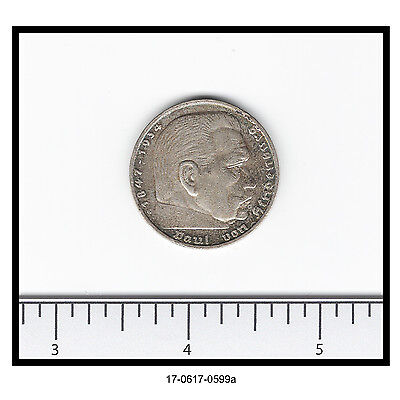1935-G Germany 5 Mark Coin (0.900 Silver)
