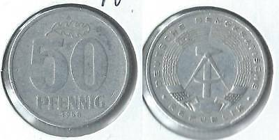 1958 A East Germany 50 pfennig coin