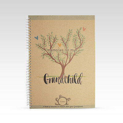 NEW Rhicreative My Grandchild Grandparent Baby Book Gift Keepsake Photo Memories