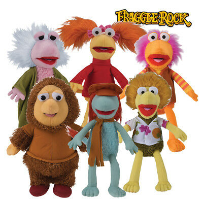 Fraggle Rock Plush Toys Vintage 80s Plushie Doll Stuffed Complete Set - 18cm