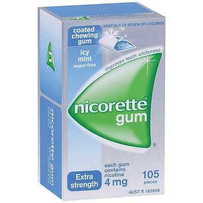 Nicorette 4mg Icy Mint Gum 105p Extra Strength