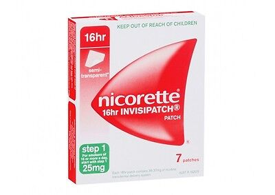 Nicorette Invisible Patches Step 1 25mg 7 once-a-day to beat nicotine cravings