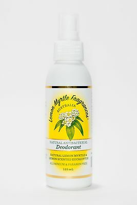 New Eucalyptus and Lemon Myrtle Natural Antibacterial Family Deodorants
