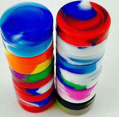 5ml Silicone Jar x 10 Nonstick Containers Oil **SILICONE JARS*** (Lot of 10)