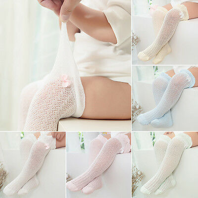 Baby Kids Toddlers Girls Cotton Lace Knee Socks Tights Leg Stockings Age 0-5 HOT