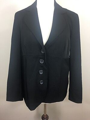 Motherhood Maternity Blazer Jacket Black 4 Button Career Dressy Medium