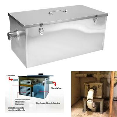 Commercial 25LB 13GPM Gallon Per Minute Ketchen Grease Trap Stainless Steel NEW