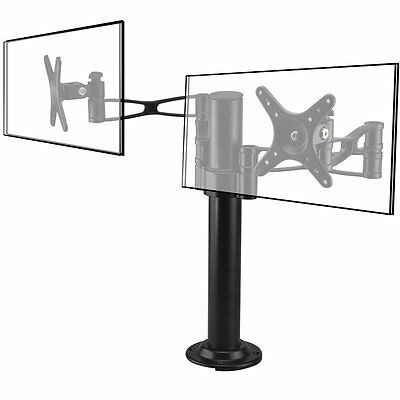 """2 Arms Twin Desk Mount Tilting Bracket LCD Computer Monitor Stand 10-27"""" Screen"""