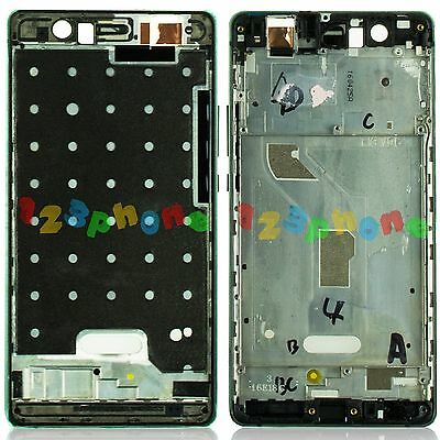 Side Button + Front Middle Mid Frame Housing For Huawei Ascend P9 Lite Black