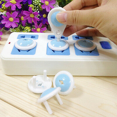 Electric Socket Security Plastic Safety Lock Cover Plug for Household Baby Kid