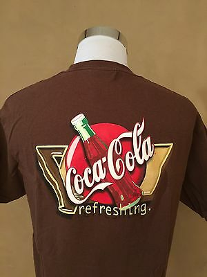 "Exc Cond Vintage 80's 90's Coca Cola Mens Large ""refreshing"" Official T Shirt"