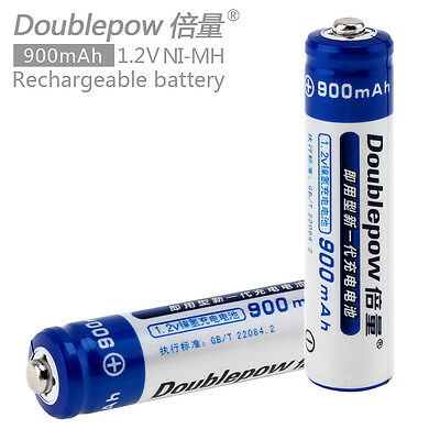 2pcs Doublepow 900mAh 1.2V AAA Ni-Mh LSD Rechargeable Batteries for toys